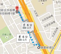 中華宇泰招牌顯示地圖